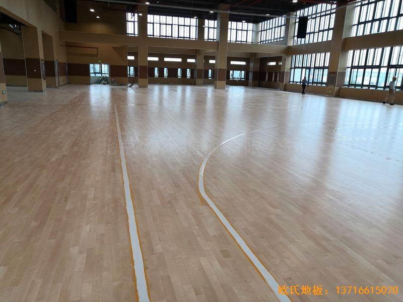 南京埔口区实验小学体育木地板铺设案例