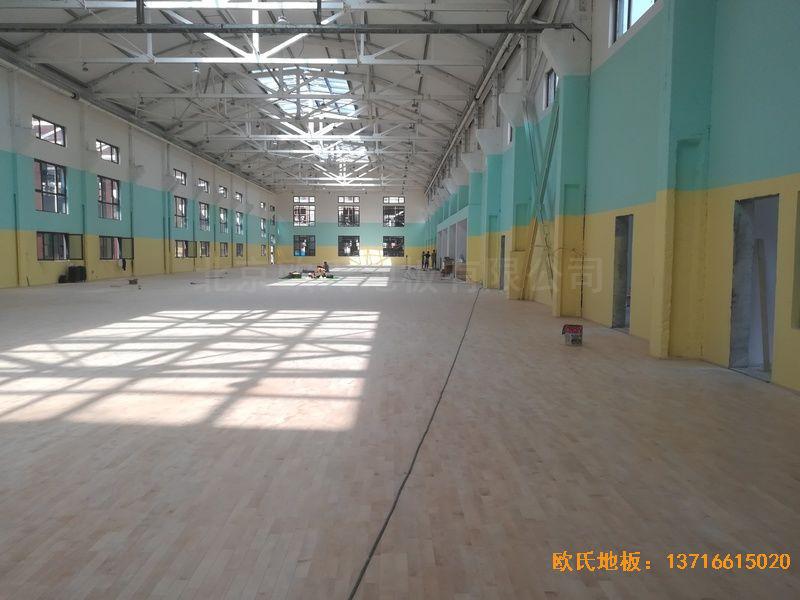 郑州中原区酷康篮球馆运动地板施工案例